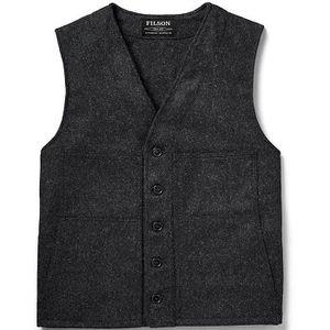 Filson Men's Mackinaw Wool Vest - Charcoal