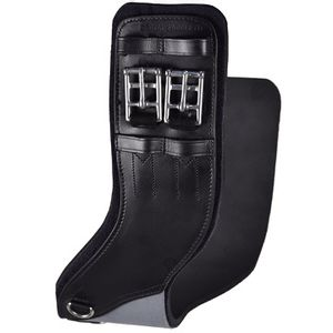 Total Saddle Fit StretchTec Shoulder Relief Dressage Girth - Leather/Neoprene - Black