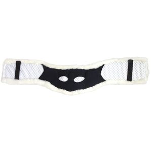 Total Saddle Fit Shoulder Relief Jump Girth Cover - White Sheepskin
