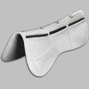 Total Saddle Fit Six Point Cotton Halfpad - White