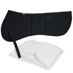 Total Saddle Fit Six Point Cotton Halfpad - Black