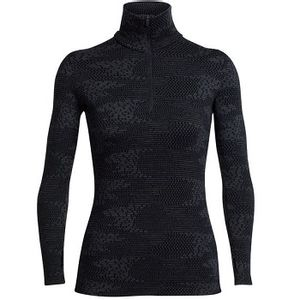 Icebreaker Women's Vertex Long Sleeve Half Zip - Flurry Black