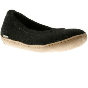 Glerups Ballerina Shoes with Leather Soles - Black