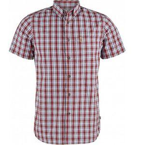 Fjallraven Men's Ovik Short Sleeve Shirt - Deep Red