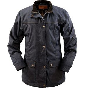 Outback Trading Women's Walkabout Oilskin Jacket - Navy