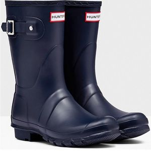 Hunter Short Matte Boots - Navy