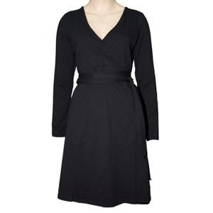 Toad & Co Women's Cue Wrap Dress - Black