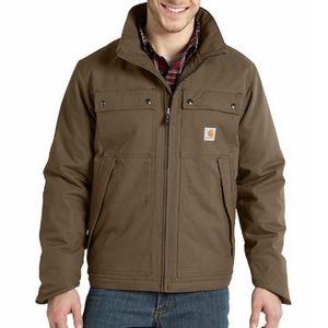 Carhartt Men's Quick Duck Jefferson Traditional Jacket - Brown