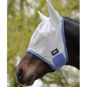 Weatherbeeta ComFiTec Airflow Fly Mask w/Ears - Grey/Blue/Grey