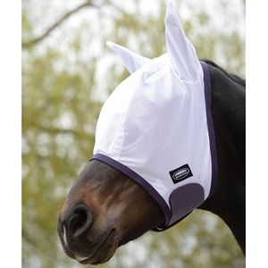 Weatherbeeta ComFiTec Essential Fly Mask w/Ears - White/Purple/Black