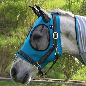 Professional's Choice Comfort Fit Fly Mask - Pacific Blue