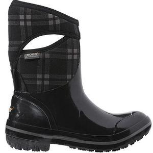 Bogs Women's Plimsoll Plaid Mid Boots - Black