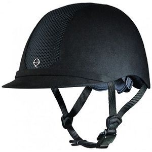 Troxel ES Low Profile Riding Helmet - Black on Black