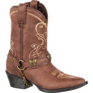 Durango Children's Big Kid Heartfelt Western Boots - Brown
