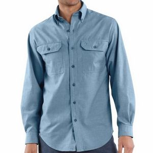Carhartt Men's Fort Long Sleeve Shirt - Blue Chambray
