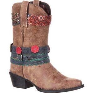 Durango Children's Big Kids' Accesorize Western Boots - Brown