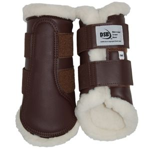 DSB Dressage Sport Boots - Matte - Brown/White