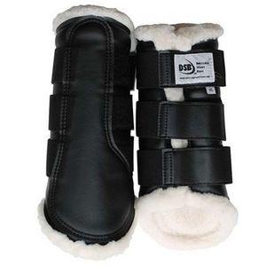 DSB Dressage Sport Boots - Matte - Black/White