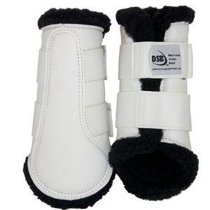 DSB Dressage Sport Boots - Matte - White/Black