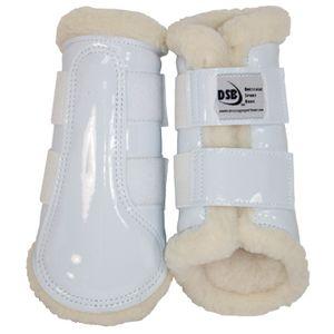DSB Dressage Sport Boots - Patent - White/White