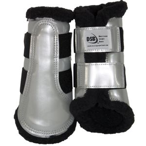 DSB Dressage Sport Boots - Patent - Silver/Black