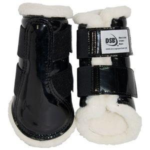 DSB Dressage Sport Boots - Patent - Black/White