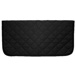 Square Quilted Western Underpad - Black