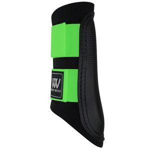 Woof Wear Club Sport Brush Boots - Black/Lime