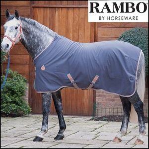 Rambo Helix Stable Sheet - Grey/Grey/Orange