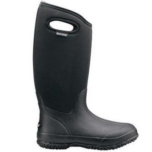 Bogs Women's Classic High Wide Boots with Handles - Black