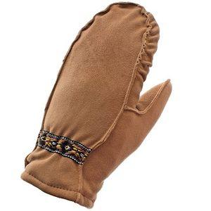 Auclair Women's Native Braid Fingermitt - Caramel