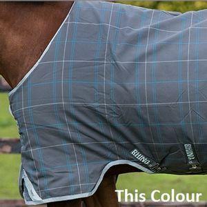 Rhino Original Rainsheet Hood - Charcoal/Blue/White Check with Grey