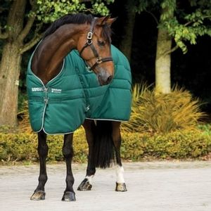 Rambo 200g Nylon Lined Stable Rug - Hunter/Hunter/White