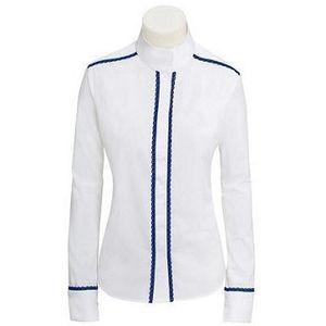 RJ Classics Women's Plymouth Lace Show Shirt - White/Navy