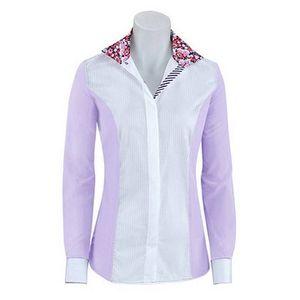 RJ Classics Women's Windsor Panel Show Shirt - Purple/White