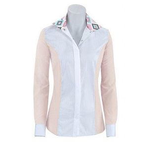 RJ Classics Women's Windsor Panel Show Shirt - Blush/White