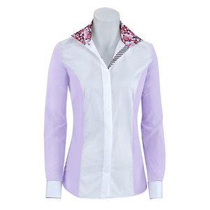 RJ Classics Girls Windsor Panel Show Shirt - Purple/White