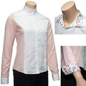 RJ Classics Girls Windsor Panel Show Shirt - Blush/White with Floral Trim