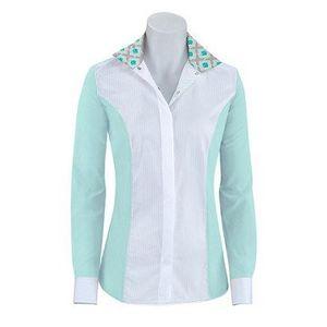 RJ Classics Girls Windsor Panel Show Shirt - Mist/White