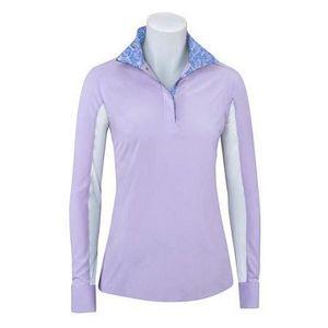 RJ Classics Girls Paige Show Shirt - Purple with Circles Trim