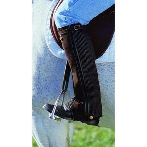 Cavalier Stretch Suede Rib Half Chaps - Black