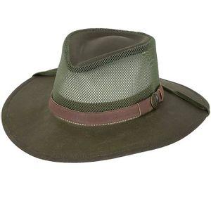 Outback Trading Oilskin Kodiak with Mesh Hat - Sage