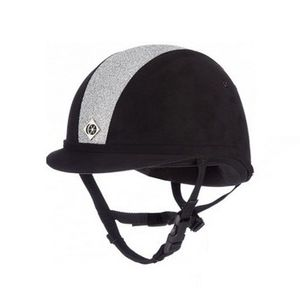 Charles Owen JR8 Helmet - Sparkle Silver/Black