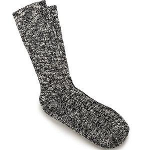 Birkenstock Men's Cotton Slub Socks - Black/White