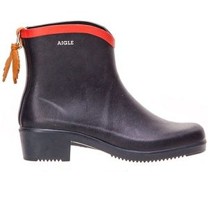 Aigle Women's Miss Juliette Rubber Ankle Boots - Marine/Red