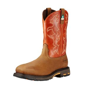 Ariat Men's WorkHog CSA Composite Toe Work Boot - Dark Earth