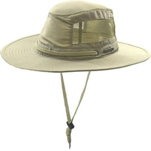 Crown Cap Boonie Mesh Hat - Stone
