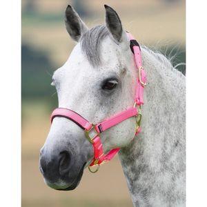 Shires Topaz Nylon Halter - Pink