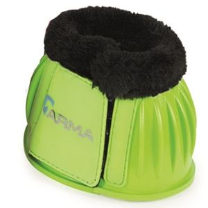 Shires Arma Fleece Lined Bell boots - Bright Green