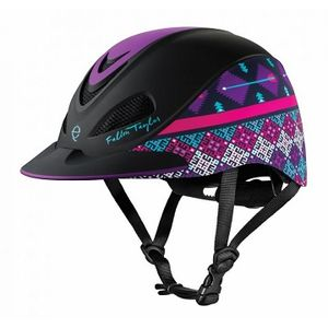 Troxel Fallon Taylor Riding Helmet - Purple Geo